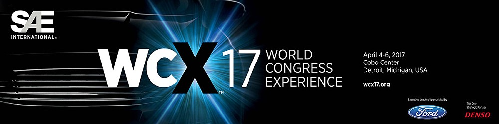Sae World Congress >> Wcx 17 Sae World Congress Experience 4 6 April 2017 Detroit