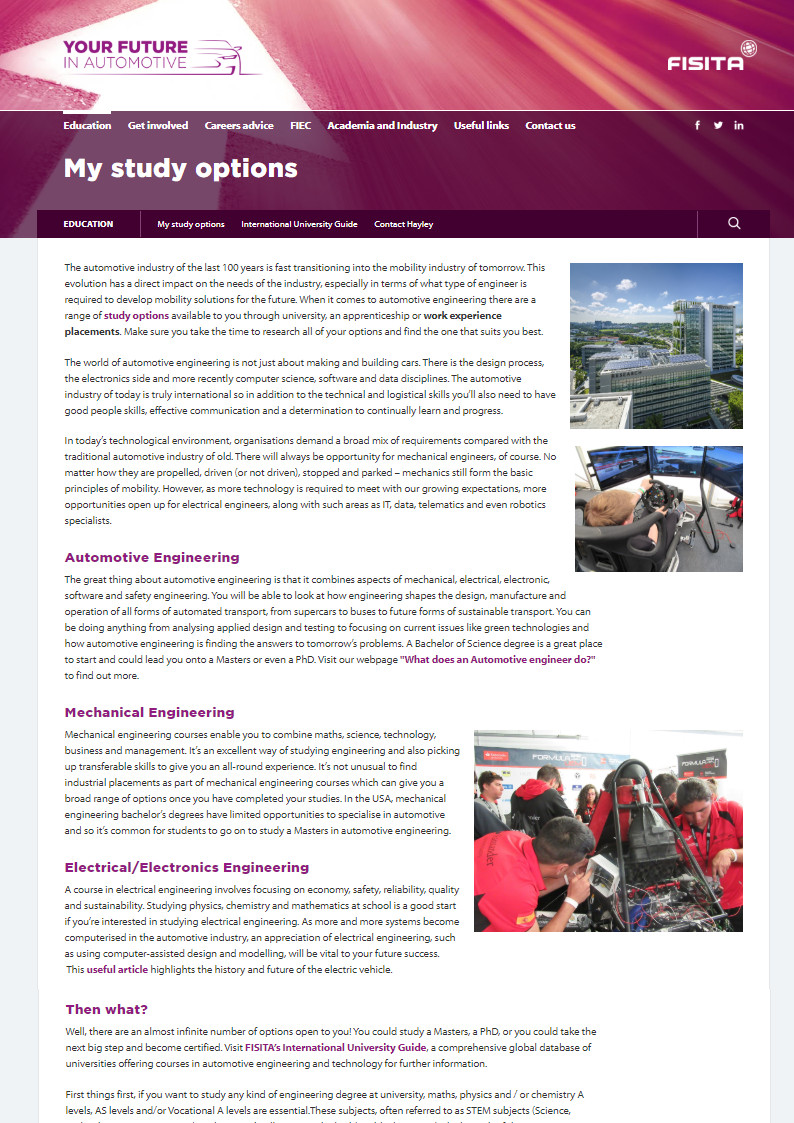 Your Future in Automotive - FISITA opportunities for students