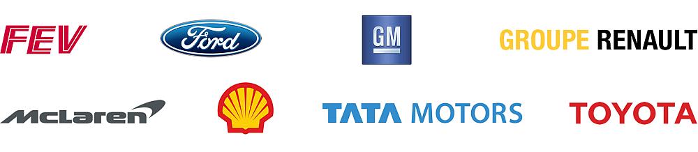 FEV, Ford, Groupe Renault, McLaren, Shell, TATA Motors, Toyota